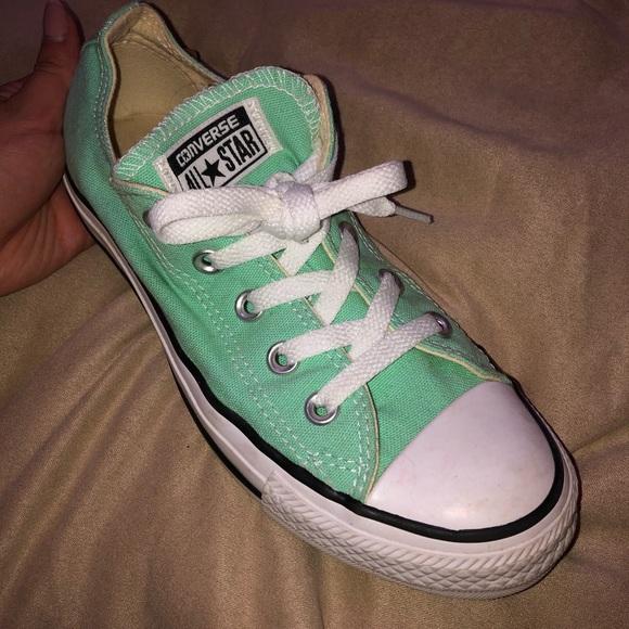 Mint green converse NWT
